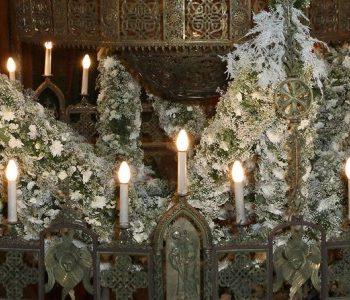 Храмовая флористика на Рождество Христово
